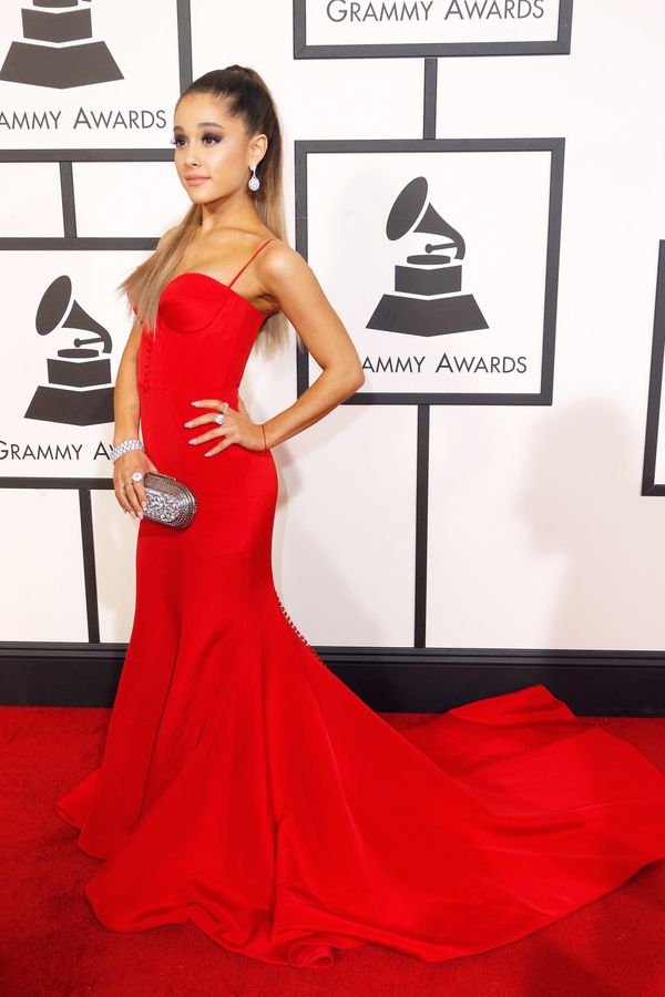 At the 58thGrammy Awards at Staples Centerin Los Angeles.