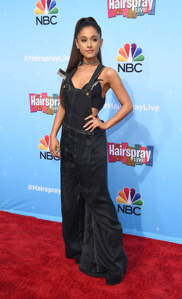 """At the NBC """"Hairspray Live!"""" pressevent in Universal City, California."""