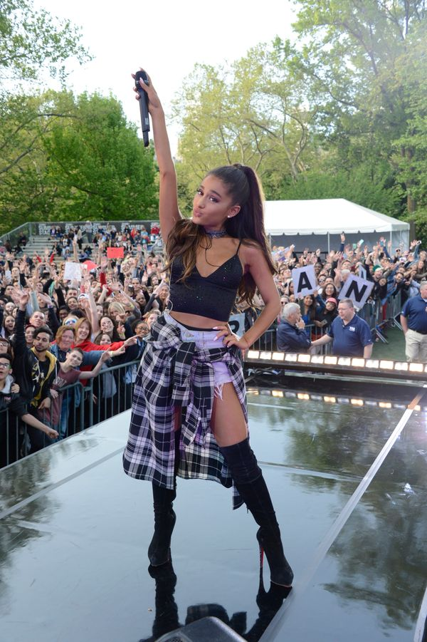 """Kicking off the""""Good Morning America""""Summer Concert Series in New York City's Central Park."""