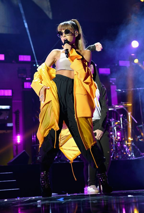 Performingonstage at the 2016 iHeartRadio Music Festival in Las Vegas.