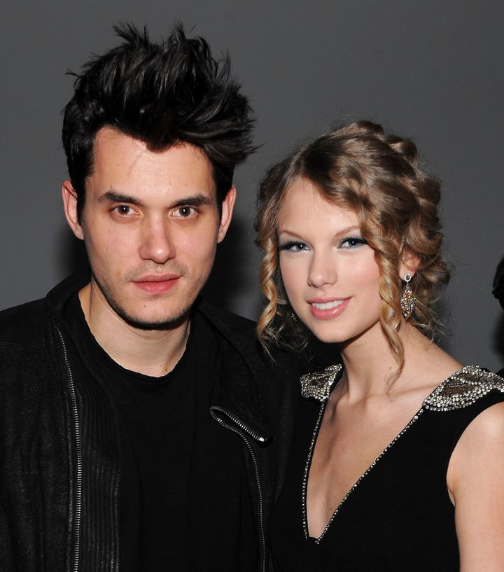 Mayer and Taylor Swift at a Vevo event on Dec. 8, 2009.