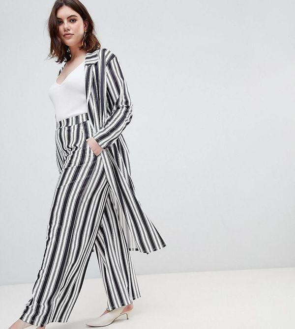 "Get the matching set <a href=""http://us.asos.com/pink-clove/pink-clove-longline-duster-wide-leg-pants-in-summer-stripe/grp/19"
