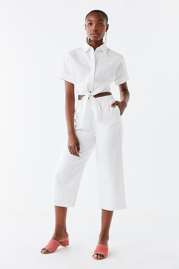 """Get the matchingset<a href=""""https://www.urbanoutfitters.com/shop/lucca-couture-vera-tie-front-top?category=two-pi"""