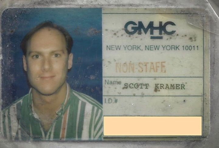 Scott Kramer, seen on a Gay Men's Health Crisis ID card.