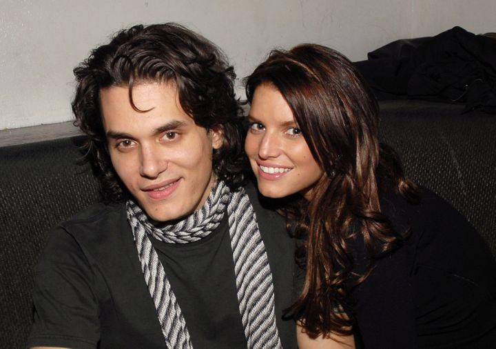 Mayer and Jessica Simpson were on and off for about two years.