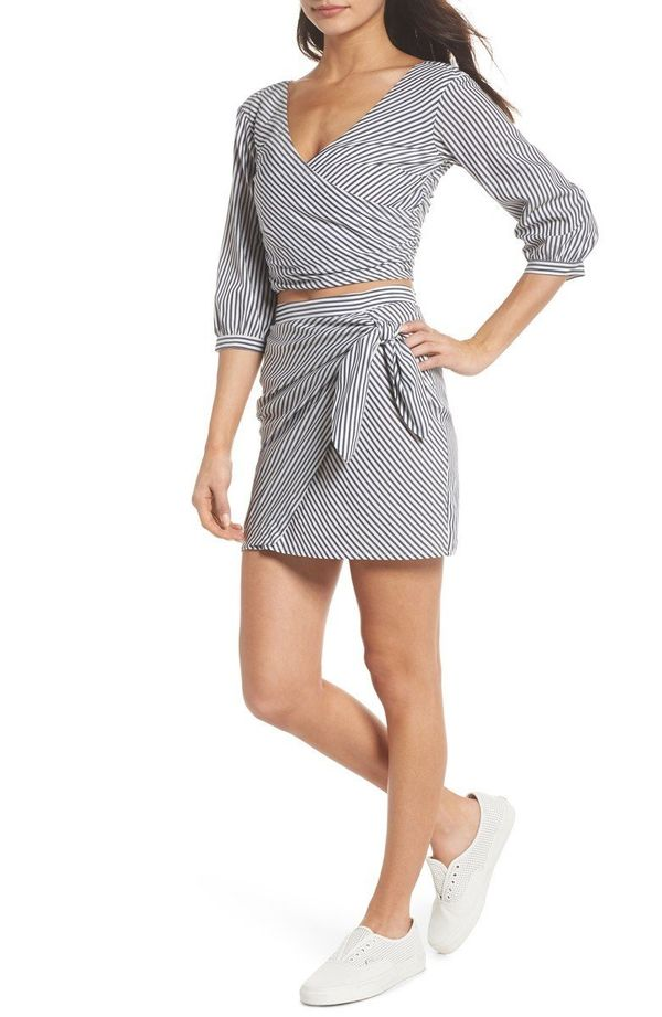 "Get the matching set <a href=""https://shop.nordstrom.com/s/ali-jay-cocktails-please-stripe-two-piece-dress/4883517?origin=key"