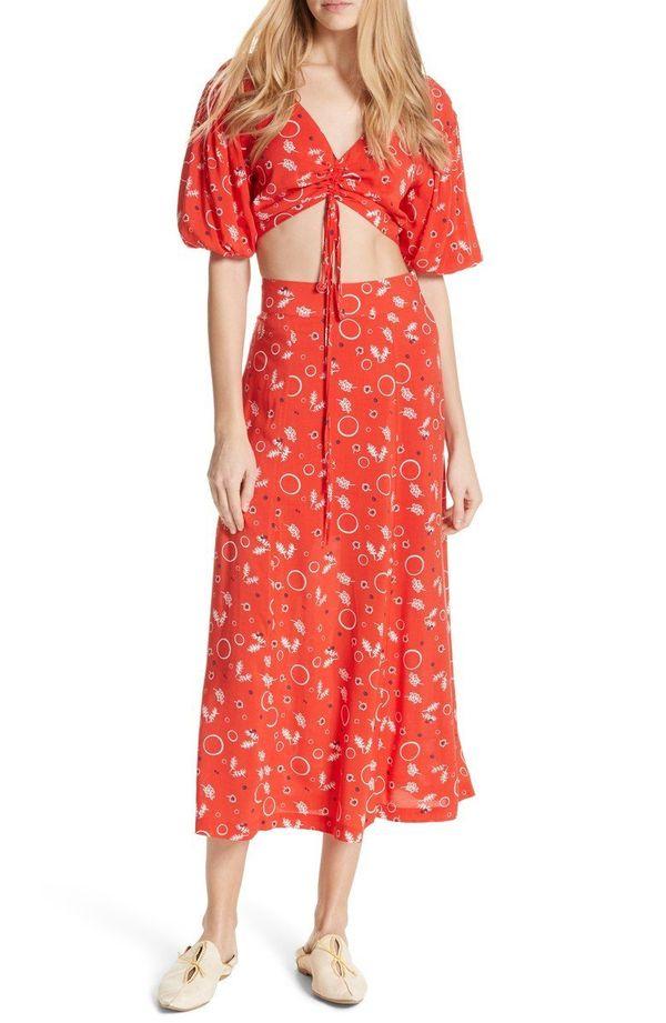 "Get the matching set <a href=""https://shop.nordstrom.com/s/free-people-danni-jane-print-crop-top-skirt/4902997?origin=keyword"