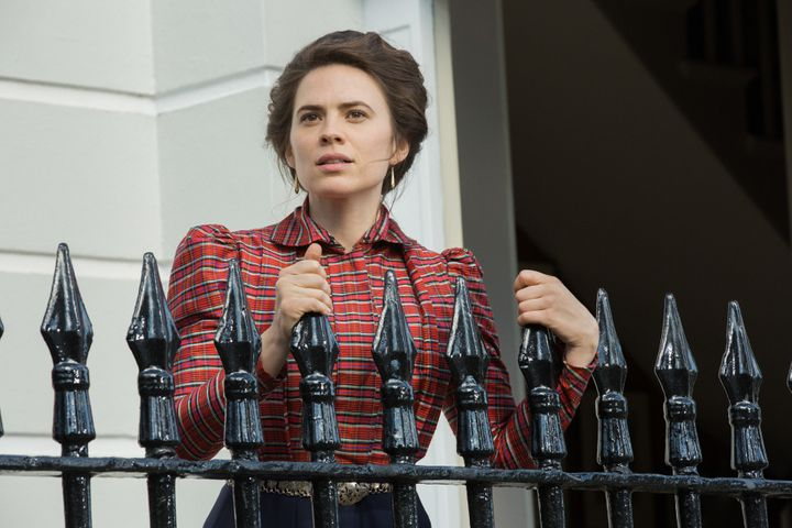 "Hayley Atwell as Margaret Schlegel in the Starz miniseries ""Howards End."""