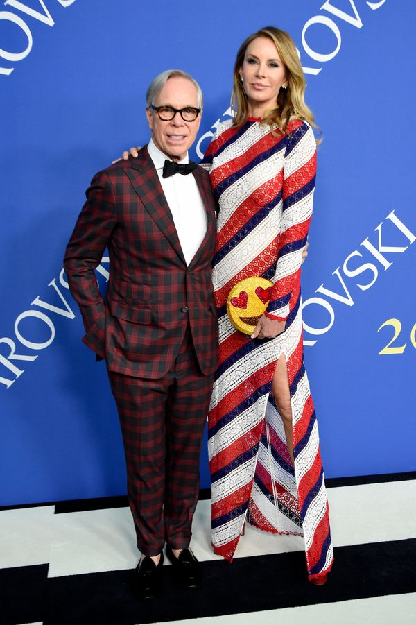 The fashion designer and his wife sportedcustom Tommy Hilfiger designs, naturally.