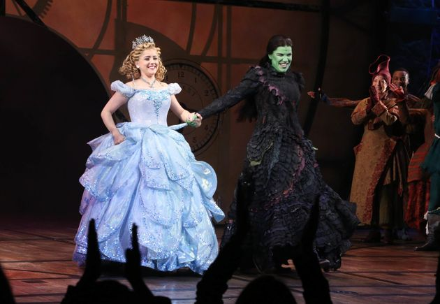 In 2013, Mendez (right) starred as Elphaba in the Broadway smash