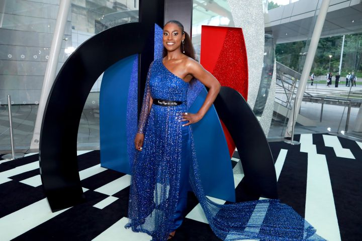 Issa Rae at the Brooklyn Museum on Monday night for the CFDA Fashion Awards.