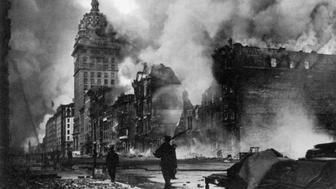 Scene from the 1906 San Francisco earthquake