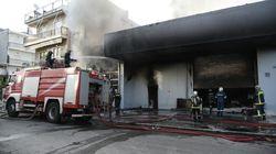 Υπό μερικό έλεγχο η μεγάλη φωτιά σε βιοτεχνία στο