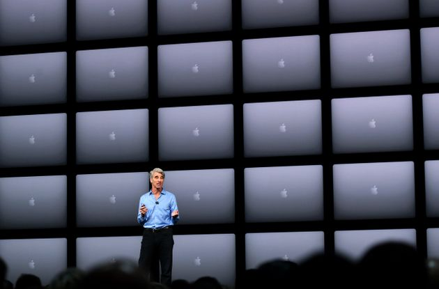 Apple's senior vice president of software engineering, Craig Federighi, speaking at the company's Worldwide...