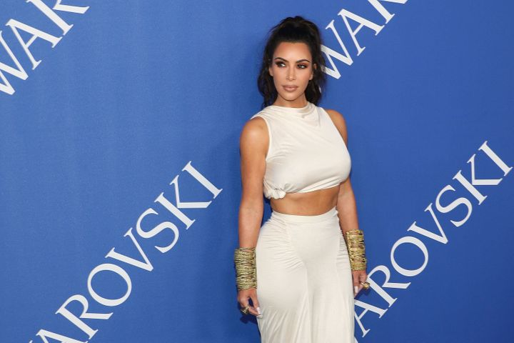 Kim Kardashian got much-deserved laughs at the CFDA Awards on Monday.