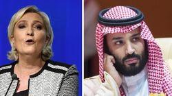 """Marine Le Pen aimerait qu'on s'intéresse à la """"disparition"""" du prince héritier saoudien"""
