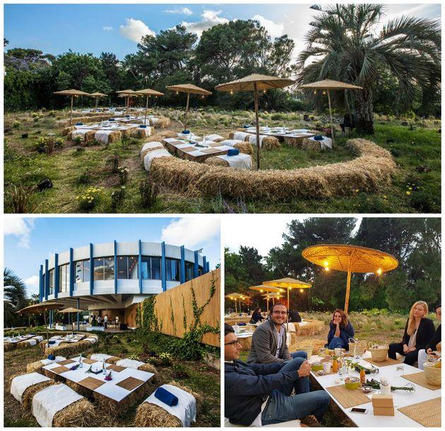 Ftour en plein air dans les jardins de la villa ronde pour le RamadanArt Casablanca, dans le cadre des...