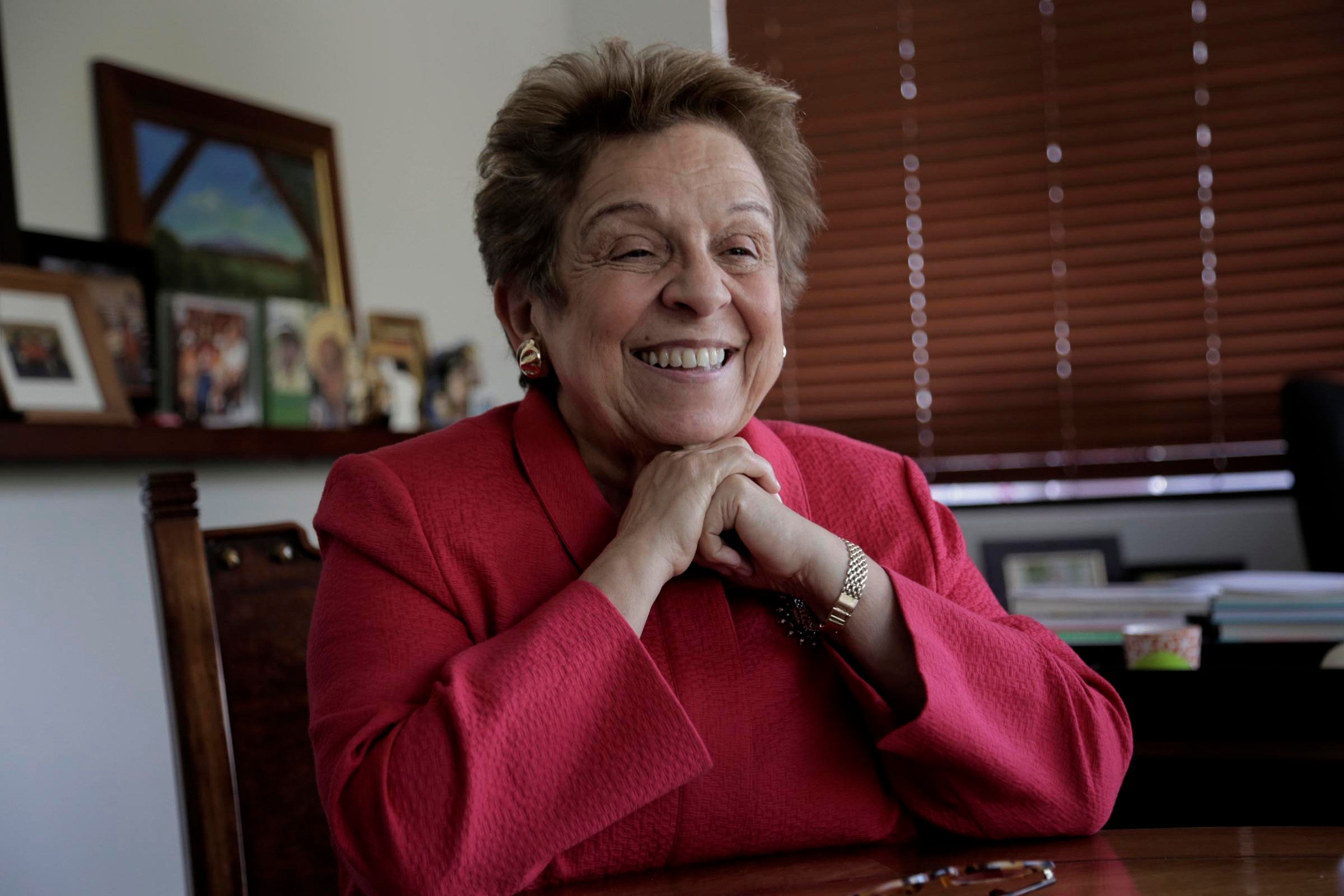 Donna Shalala, seen here on Feb. 13, 2018, filed paperwork to run for Congress, shaking up a crowded Democratic field seeking to replace the retiring Republican Rep. Ileana Ros-Lehtinen. (Jose A. Iglesias/el Nuevo Herald/TNS via Getty Images)