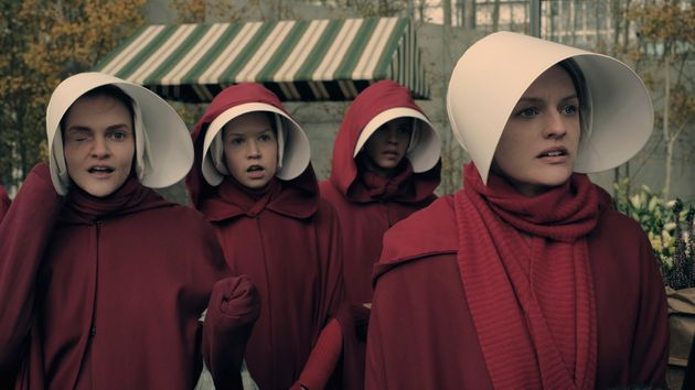 Cast of The Handmaid's Tale, which is being shown on Channel 4.