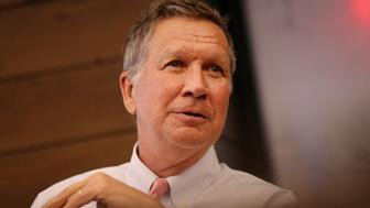 BOSTON, MA - MAY 23: Ohio Governor John R. Kasich is pictured during an Editorial Board meeting at the offices of The Boston Globe in Boston on May 23, 2018. (Photo by Craig F. Walker/The Boston Globe via Getty Images)