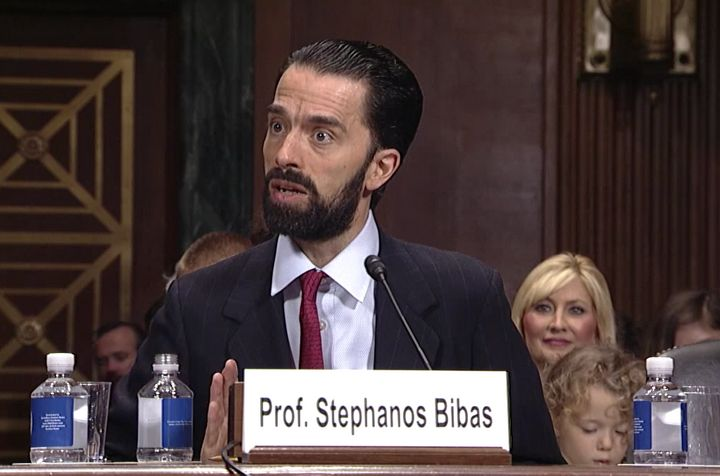 Stephanos Bibas, now a lifetime judge on the U.S. Court of Appeals for the 3rd Circuit, said in his confirmation hearing