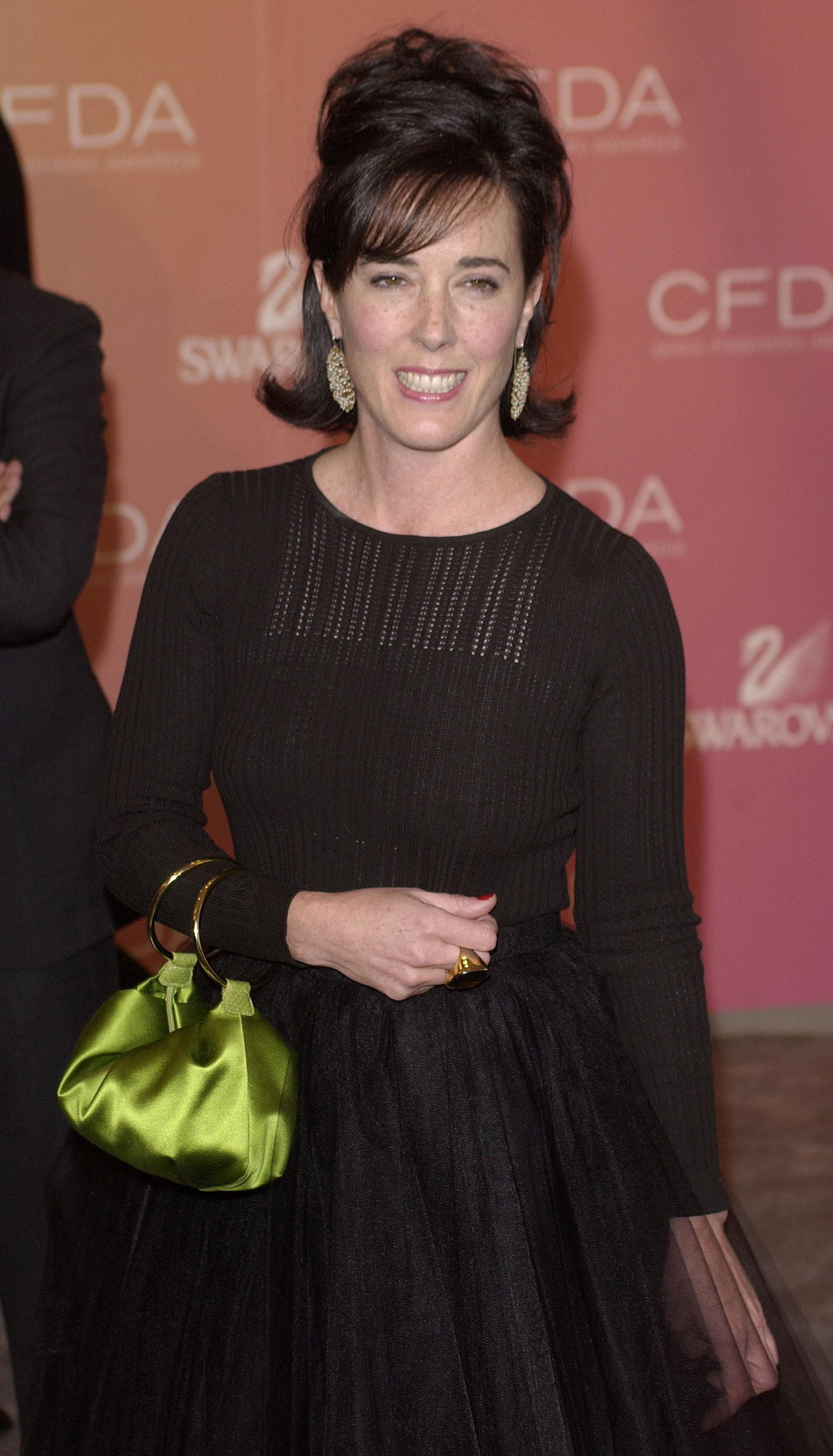 Kate Spade arrives at the Council of Fashion Designers of America awards in New York on June 2, 2003, at the New York Public Library. Awards were presented to members of the fashion industry at this annual gala event. REUTERS/Chip East REUTERS  CME/AS