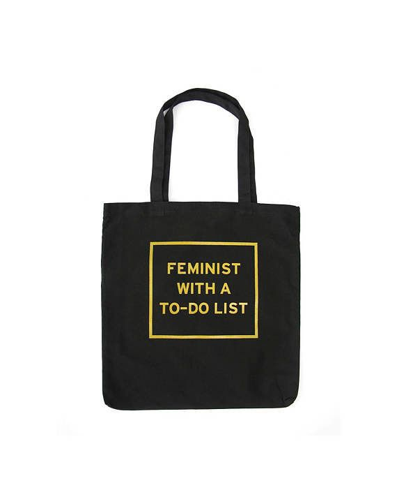 """$24, get it <a href=""""https://www.etsy.com/listing/484951022/feminist-tote-bag-feminist-with-a-to-do"""" target=""""_blank"""">here</a>"""