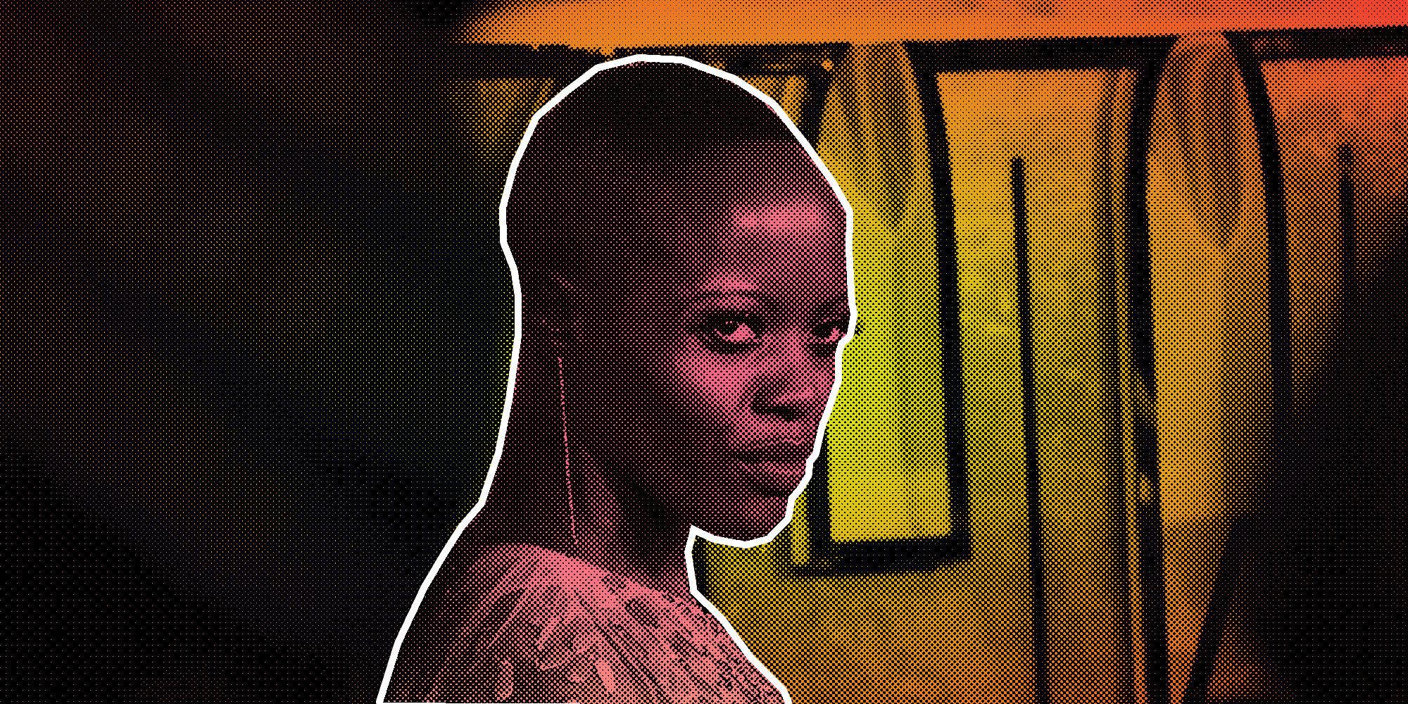 Florence Kasumba plays Ayo in Black Panther