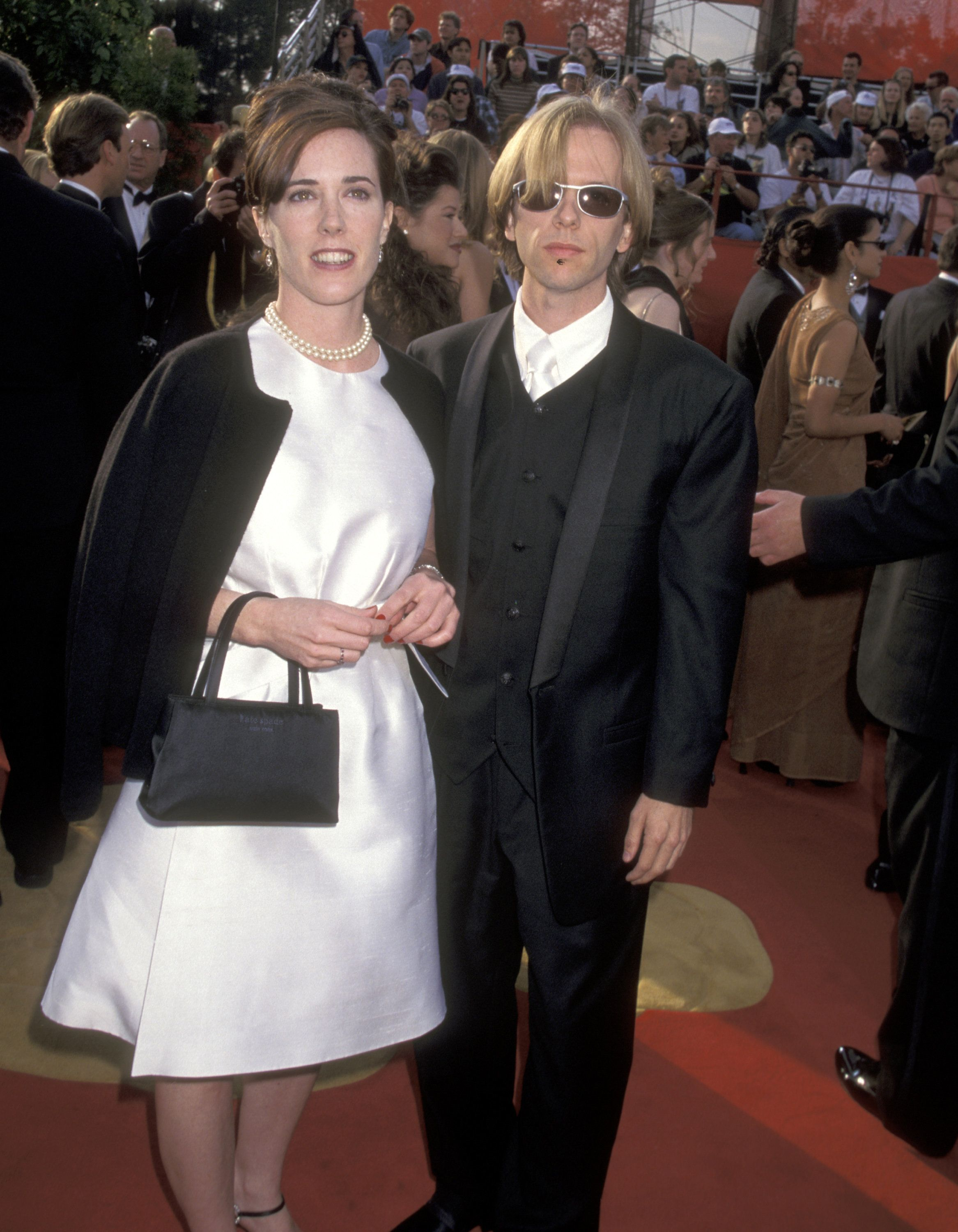 Ron Galella via Getty Images                   Kate Spade appears with brother-in-law David Spade at the 69th Annual Academy Awards in 1997 in Los Angeles