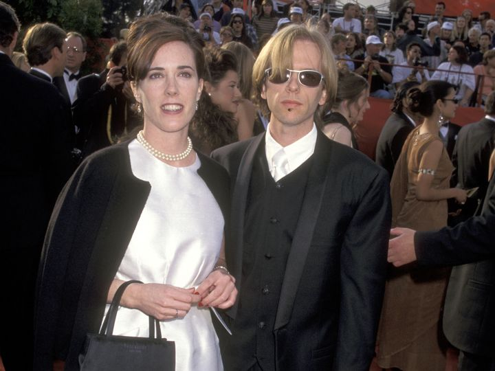 Kate Spade appears with brother-in-law David Spade at the 69th Annual Academy Awards in 1997 in Los Angeles.