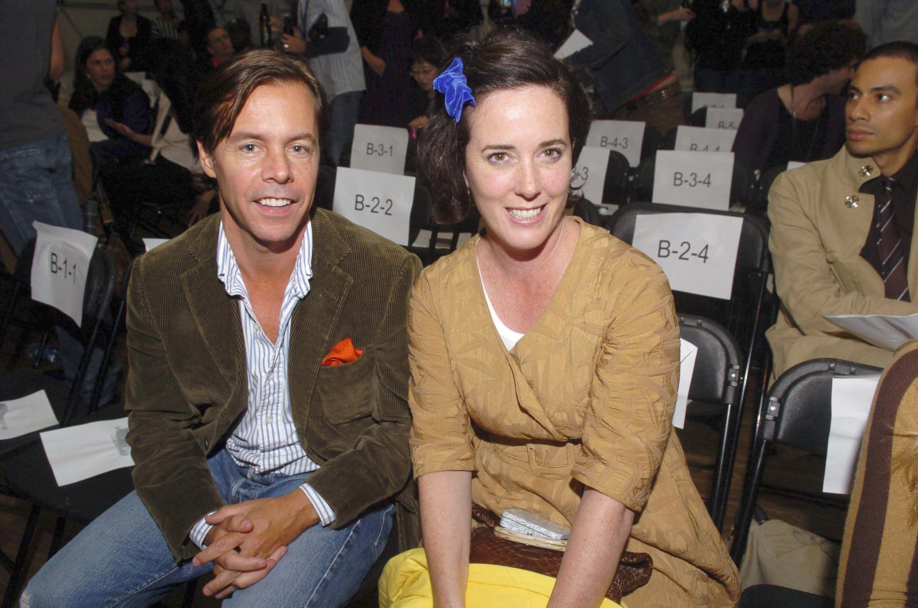 Gustavo Caballero via Getty Images                   Andy Spade and Kate Spade appear at the Three As Four show during New York Fashion Week in September 2007