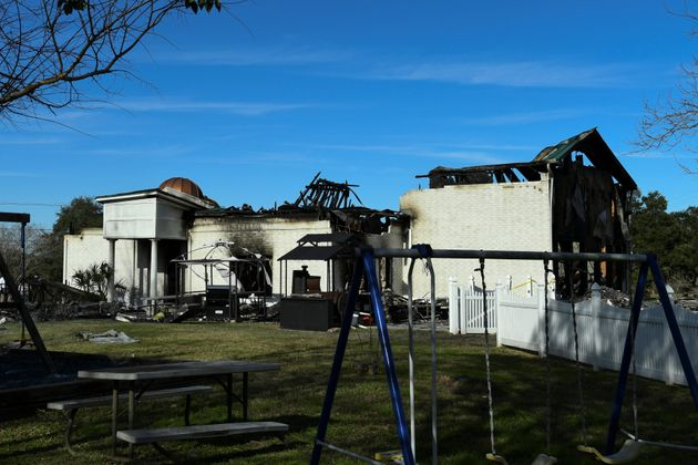 The Victoria Islamic Center mosque in Victoria, Texas, on Jan. 29, 2017, the day after it was damaged...