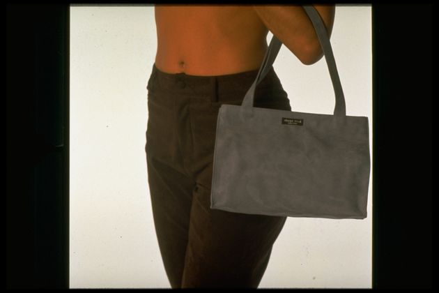One of Kate Spade's early handbags, photographed in