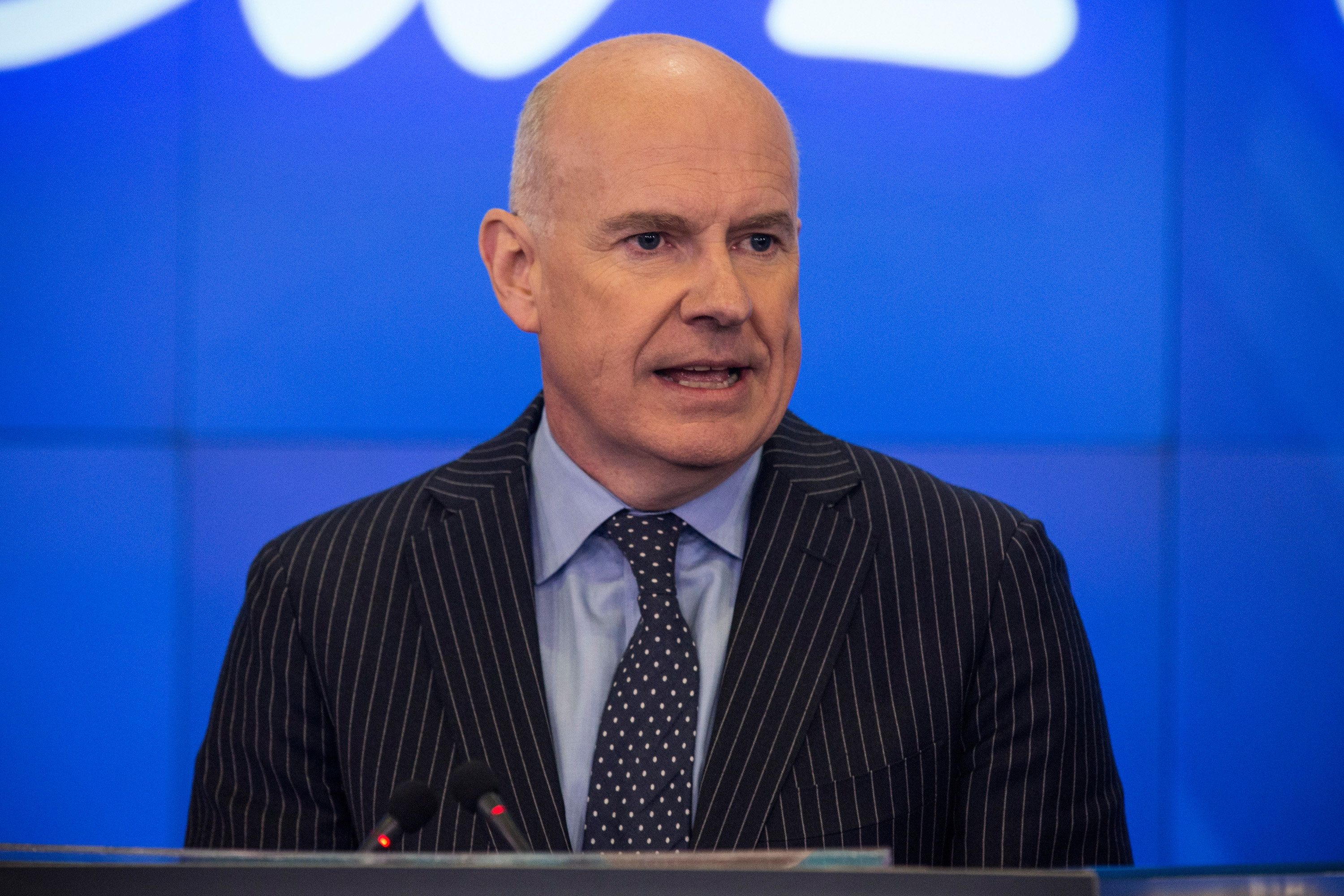 NEW YORK, NY - JULY 08:  Gerard Baker, Editor in Chief of The Wall Street Journal, speaks at the opening bell of the NASDAQ stock exchange, on July 8, 2014 in New York City. The Wall Street Journal is celebrating its 125th anniversary today.  (Photo by Andrew Burton/Getty Images)