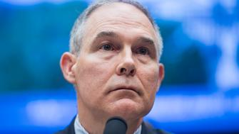 UNITED STATES - APRIL 26: EPA Director Scott Pruitt testifies before a House Energy and Commerce Environment Subcommittee hearing in Rayburn Building titled 'The FY2019 Environmental Protection Agency Budget,' on April 26, 2018. In addition to the budget, Pruitt faced questions about controversies that have occurred at the agency during his tenure. (Photo By Tom Williams/CQ Roll Call)
