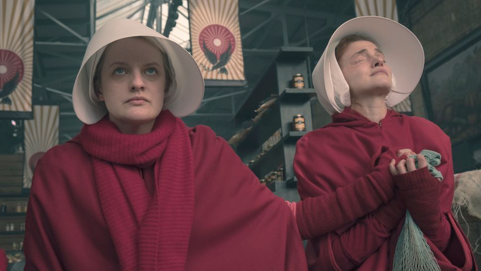 "June and Janine pray for a sick baby during Season 2, Episode 8 of ""The Handmaid's Tale."""