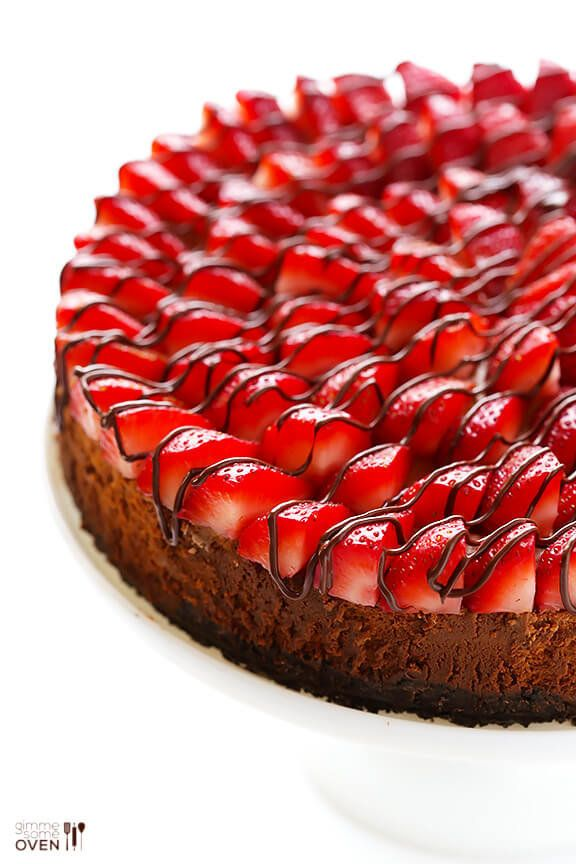 "<strong>Get the <a href=""https://www.gimmesomeoven.com/strawberry-nutella-cheesecake-recipe/"" target=""_blank"">Strawberry Nute"