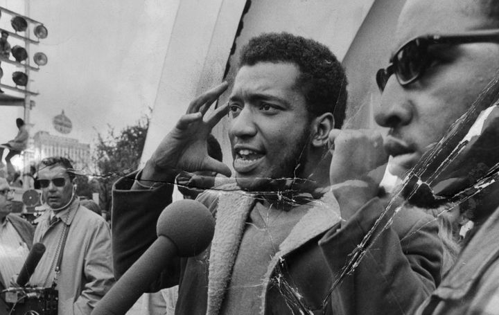 The Black Panthers' Fred Hampton speaks at a rally in Chicago's Grant Park in September 1969. Hampton and fellow Panther Mark