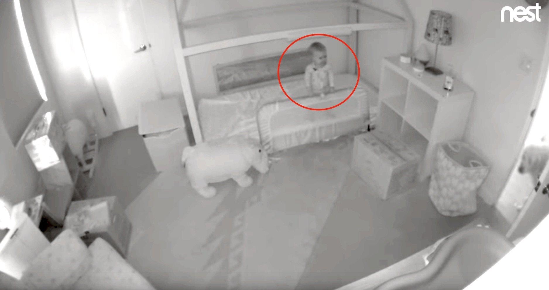 Hidden Camera Reveals Toddler's Adorable Escape