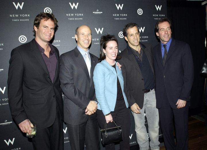 Kate Spade and Kenneth Cole (tothe right of Spade) pictured together at a 2002 event.