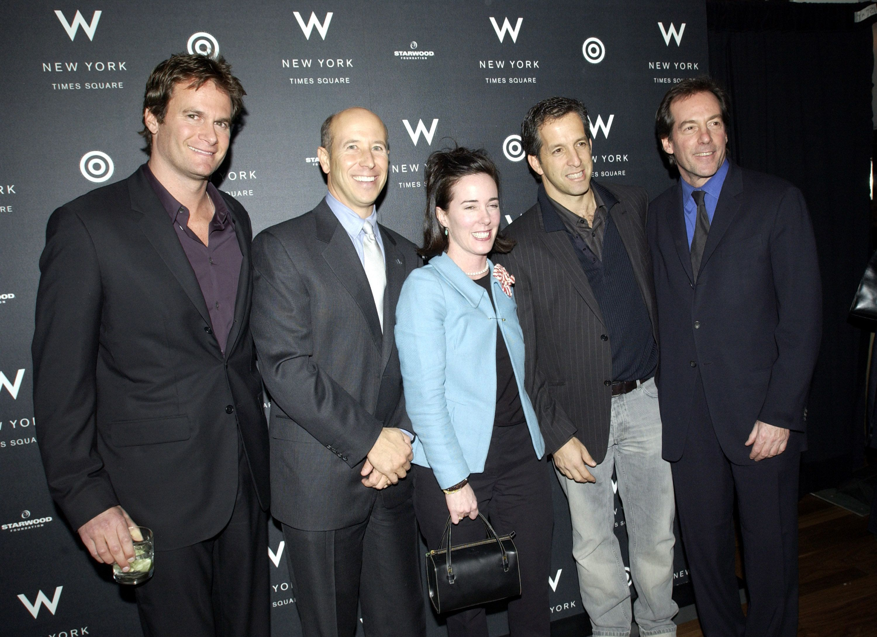Kate Spade and Kenneth Cole (to the right of Spade) pictured together at a 2002 event.
