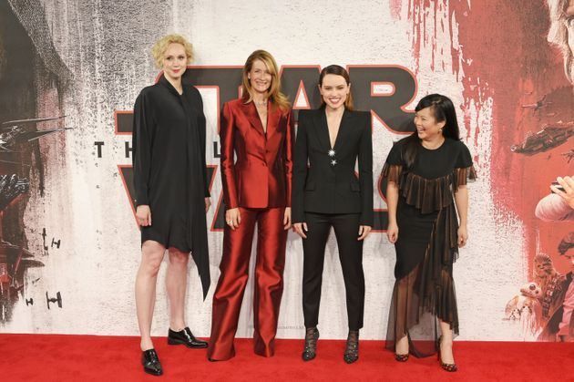 Gwendoline Christie, Laura Dern, Daisy Ridley and Kelly Marie
