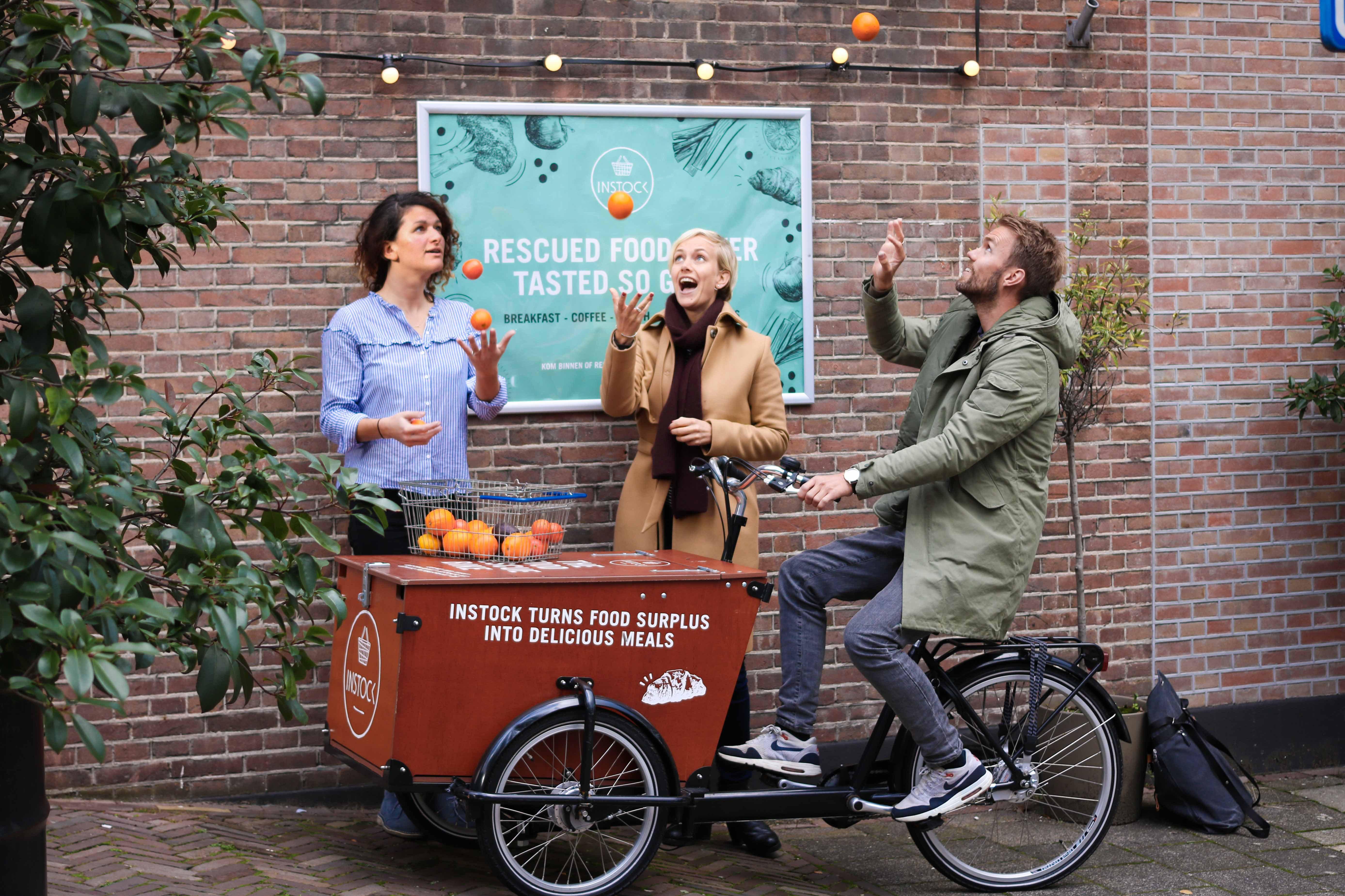 Selma Seddik, Freke van Nimwegen and Bart Roetert, co-founders of Instock.<i></i>