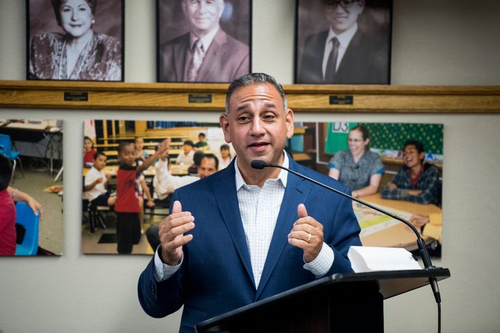 Gil Cisneros, the candidate backed by the Democratic Congressional Campaign Committee, California's 39th Congressional Distri