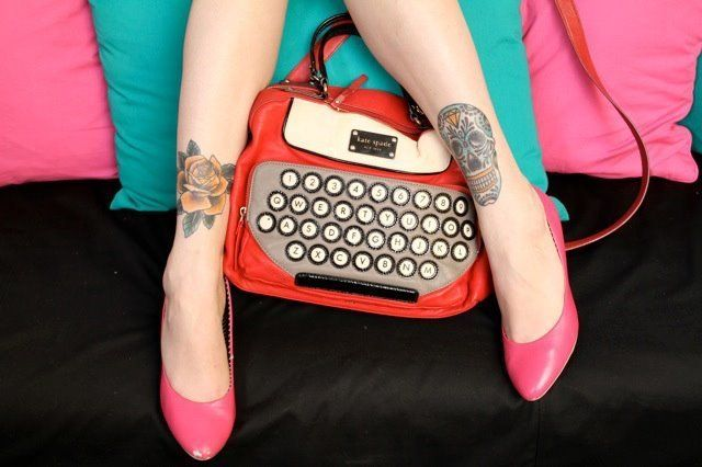 My Kate Spade typewriter bag.