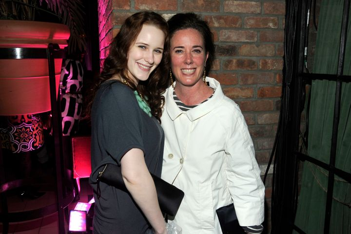 Rachel Brosnahan and Kate Spade pictured together in 2010.