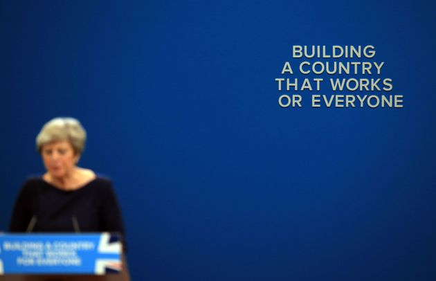 Only some of the writing was on the wall for Theresa May's ill-fated conference speech in