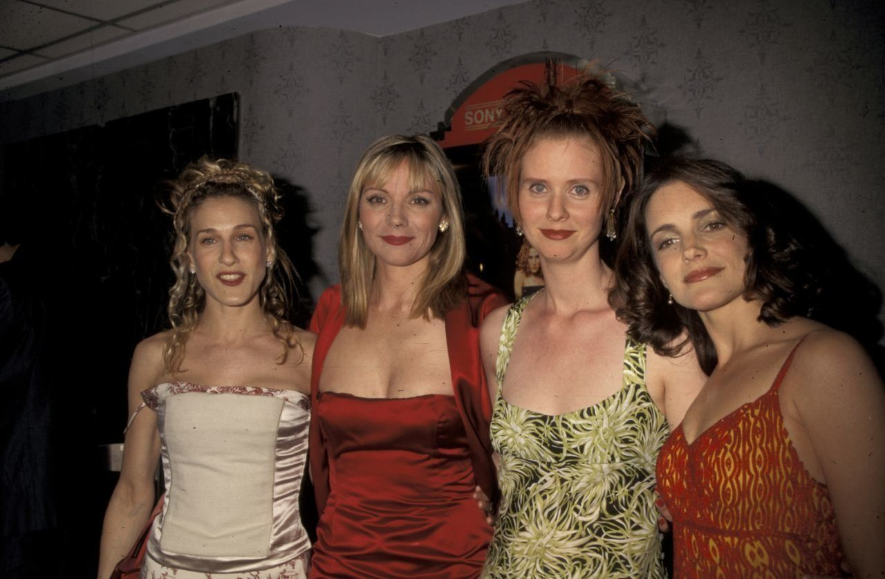 The way they were: Sarah Jessica Parker, Kim Cattrall, Cynthia Nixon, and Kristin Davis at a 1998 screening for Sex and the C