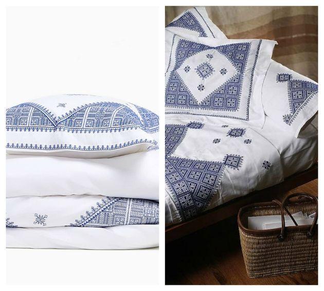 Àdroite, un ensemble traditionnel marocain en broderie fassi. À gauche, parure de...