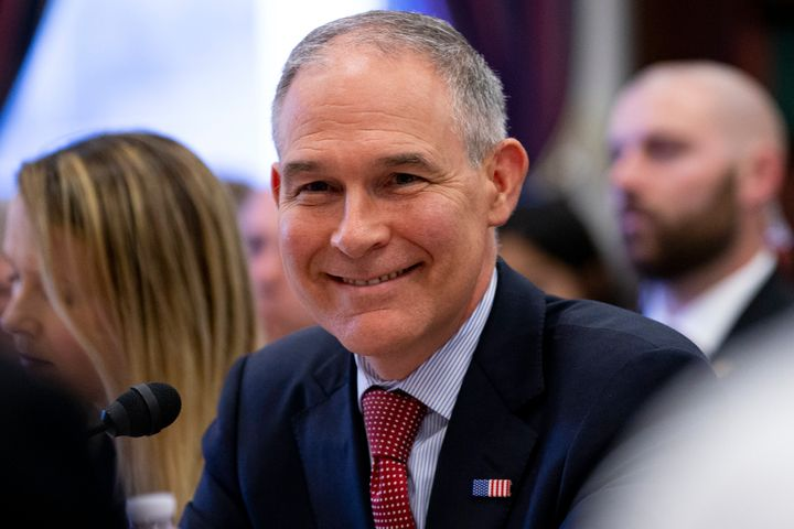 EPA Administrator Scott Pruitt testifies before the House Appropriations Committee during a hearing on April 26.